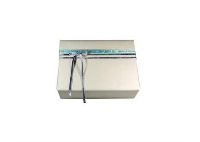 Geschenksverpackung 3.0: Papier & Schleife grau-petrol