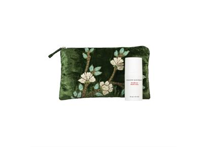 Girl's Best Friend: grüne Samtpouch mit Handlotion