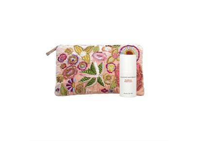 Girl's Best Friend: rosa Samtpouch mit Handlotion