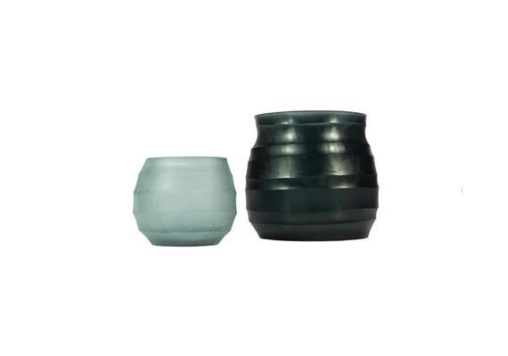 Glass Menagerie 7.0: Vase & Teelichter, blau-sky