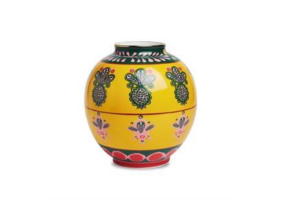 La Double J: Vase gelb-grün