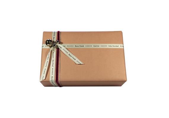 Weihnachtsverpackung 5.0: Papier & Schleife rosé