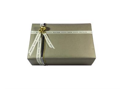 Weihnachtsverpackung 6.0: Papier & Schleife grau